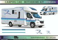 Autocollants graphique vinyle camping-car stickers rayures set caravane