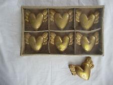 7 Herz-Kerzen mit Engelflügeln, gold, OVP, Engel-Herzen von Douglas