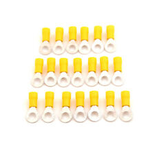 20PCS M6 Ring Insulated Wire Connector Electrical Crimp Terminal 12-10AWG�€New