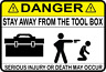 Snap On Security Tool Anti Theft Toolbox Alarm No Entry Tool Box Sticker