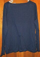 Chaps Women's Pullover Top NWT Size L Navy