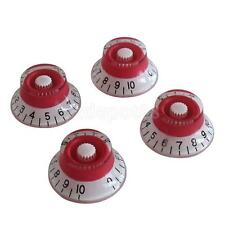 4pcs Red/White Speed Control Knobs for Gibson LP Replacement Electric Guitar