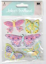JOLEE'S BOUTIQUE GLITTER BUTTERFLIES DIMENSIONAL STICKERS BNIP