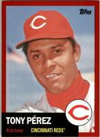 2016 Topps Archives Red Cincinnati Reds Baseball Card #51 Tony Perez