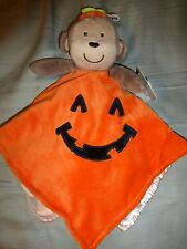 NWT - Carter's Plush Security Blanket, Pumpkin Monkey Halloween