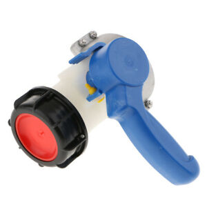 Blue 75mm IBC Butterfly Valve Taps Adaptor for Oil / Liquid Container