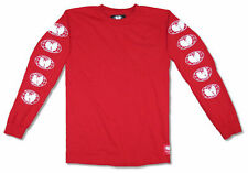 Wu-Tang Clan Embroidered Logo Wu Wear Red Long Sleeve T Shirt New Official