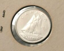 1965 Canada 10 Cents - Uncirculated - Beautiful Silver Coin - See PICS