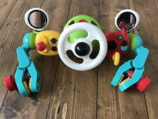 ELC Colourful  Car Steering Wheel Light Up and Sounds Buggy, Pram Music Toy