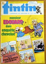 BD Comics Magazine Hebdo Journal Tintin No 38 40e 1985 Monsieur Edouard