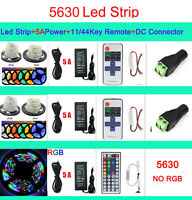 5M Fairy Light Strip RGB 300 Led 5050 3528 5630 SMD Flexible Lamp+Remote+Power
