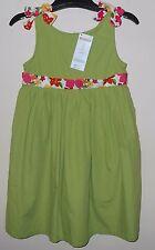 New Gymboree Girls' Size 5T Green Floral Spring Summer Sundress Dress