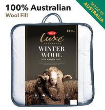 Tontine 100% Australian Wool Quilt Doona Duvet Queen Size High Warmth Washable