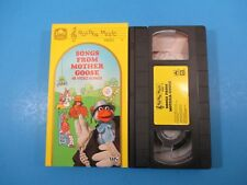 Songs From Mother Goose - 48 Video Songs RARE Golden Book VHS 1990 nursery rhyme