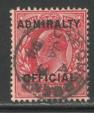 Great Britain #O79 (A66) Fvf Used - 1903 1p Edward Vii (Scarlet) Scv $22.50