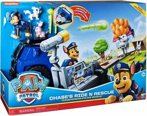 Paw Patrol CHASE'S RIDE N RESCUE Transforming Police Vehicle Car Figure Playset