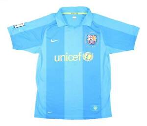Barcelona 2007-09 Authentic Away Shirt (Excellent) M Soccer Jersey