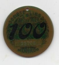 "Old "" 100 "" Monaco Celluloid Poker / Gaming Chip"