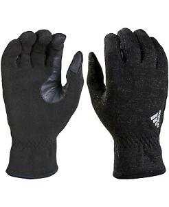 adidas Men's Edge ClimaWarm Touchscreen Running Gloves Black Size L XL NEW $45