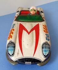 """Vintage 60s ASC Aoshin Speed Racer Mach Go Go Go 14"""" Tin Toy Friction Car"""