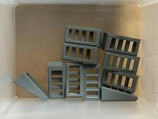 Slope 1x2 Slots new New 4 X LEGO 61409 Brick Gradient Grill Silver Metallic