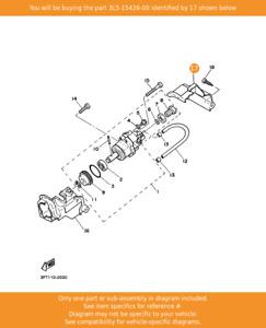YAMAHA Cover, Oil Pump 2, 3L5-15426-00 OEM PW50 MA50M YF60