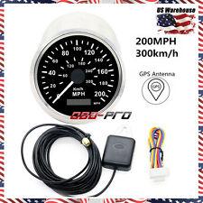 85mm Auto Stainless Digital GPS Speedometer 200KMH For Car Truck 12V/24V USStock