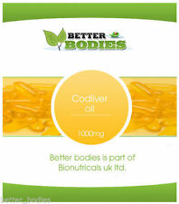 Cod Liver Oil 1000mg High Strength 7 to 360 Softgel Capsules Free UK Delivery