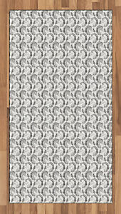Tattoo Area Rug Decorative Flat Woven Accent Rug in 2 Sizes for Home Decor