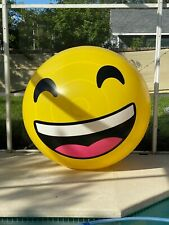 Giant 6ft x 2ft Heat Stretched Inflatable Smiley Face Island Beach Ball Blow Up