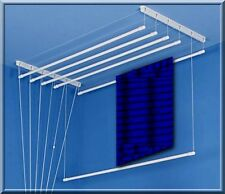 Clothes Ceiling Pulley Airer Dryer Drying Rack from 5m to 14m Drying Space White