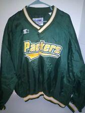 Vintage Green Bay Packers Starter NFL Pro Line V Neck Pullover Jacket 2XL