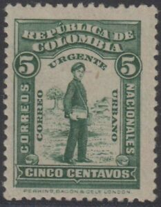 COLOMBIA 1917 SPECIAL DELIVERY Sc E1 KEY VALUE HINGED MINT SCV$60.00