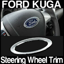 FORD KUGA CHROME Steering Wheel Central Logo Trim Custom Free AIRMAIL