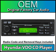 Hyundai Getz CD player radio, VDO car stereo headunit with Removal Keys