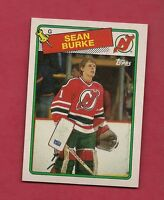 1988-89 TOPPS  # 94 DEVILS SEAN BURKE  ROOKIE GOALIE  NRMT-MT  CARD