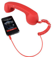 Retro Phone Handset Adapter Red Cell IPhone Android 3.5mm Classic Radiation