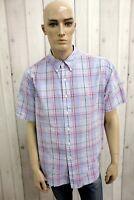 RALPH LAUREN Camicia Taglia XL Uomo Cotone Shirt Chemise Casual Manica Corta