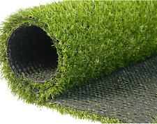 Artificial Grass Turf Lawn, 0.8inch Realistic Synthetic Grass Mat, Indoor Outdoo