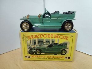 P75-MODELS OF YESTERYEAR Y-15 ROLLS-ROYCE SILVER GHOST AND BOX.