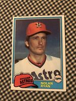 1981 Topps Nolan Ryan Houston Astros #240 Baseball Card