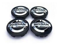 4x 54mm Nissan noir jantes couvercle moyeux capuchon roue Juke Qashqai Micra NEU
