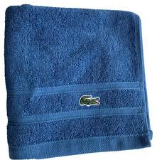 Lacoste Croc Towel 16 X 30 Ocean Blue Hand Towel