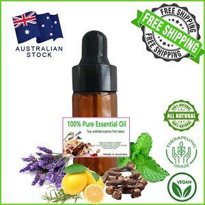 10ml Essential Oil 100% Pure & Natural Aromatherapy Diffuser Essential Oils AU