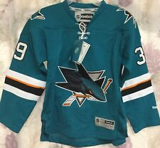 Reebok NHL San Jose Sharks Youth Small/Medium Logan Couture Authentic Jersey New