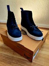 Dr Martens Talib Indigo Blue Leather High Tops Chukka Boots Shoes UK10