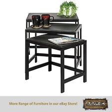 Nested Tables Wrought Iron Zebra Patterned (Set of 3)