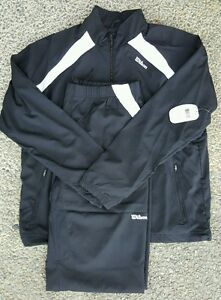 Wilson Unisex Tracksuit Warm Up Black and White XL