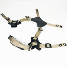 Tan 4-Point Chinstrap X Harness for MICH ECH LWH PASGT Helmets etc.