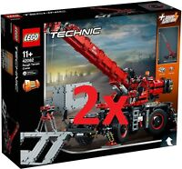 LEGO® 2x 42082 TECHNIC - Rough Terrain Crane - NEW / FACTORY SEALED